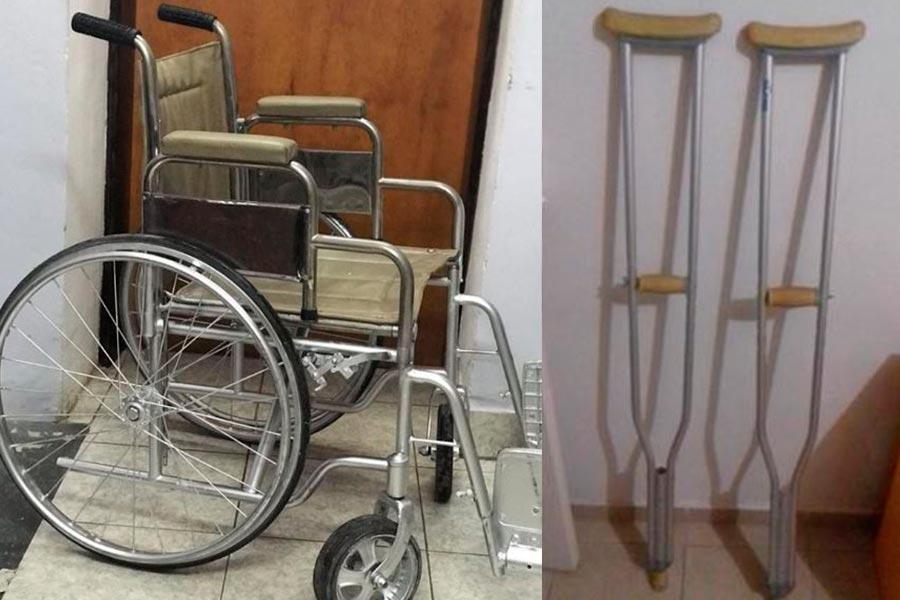 Donacion elementos ortopedicos