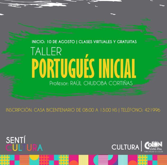 Inscripciones taller inicial de portugues