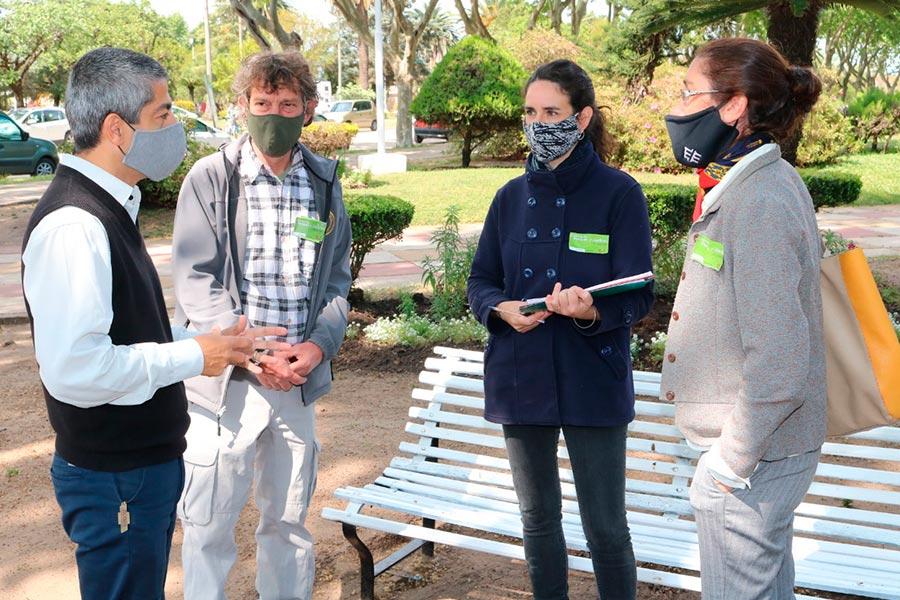 Comenzo la evaluacion del concurso de parques y jardines