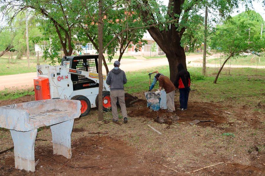 La Municipalidad de Colon trabaja en un nuevo espacio publico
