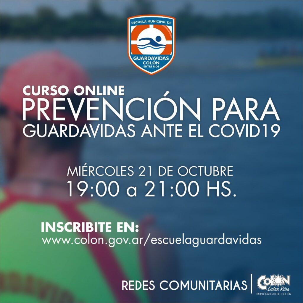 Prevencion para Guardavidas ante el COVID19