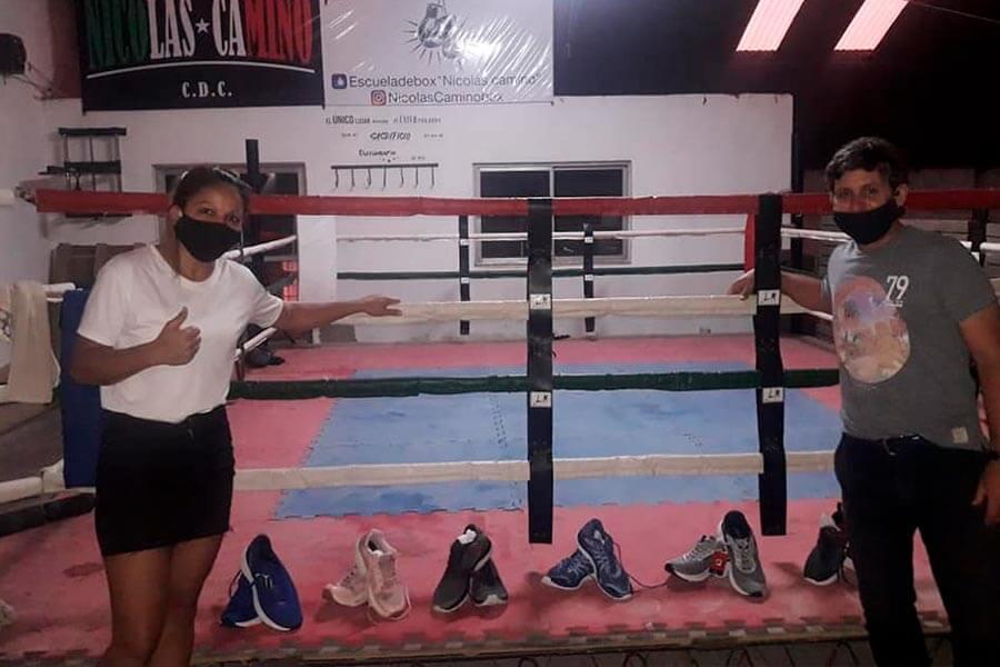 Zapatillas donadas por una ONG