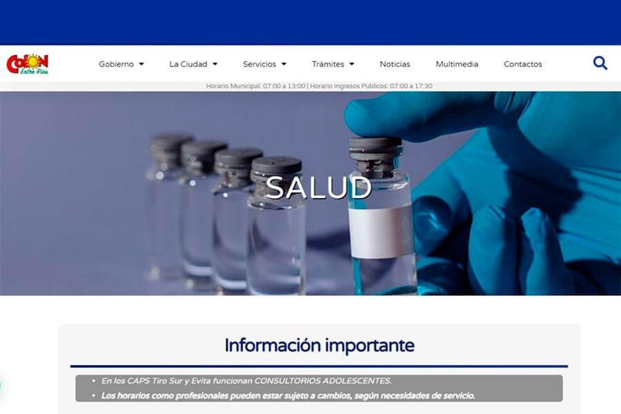 Espacio web para Centros Municipales de Salud