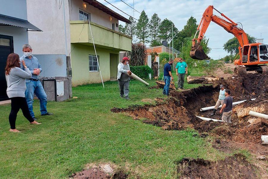 Alrededor de 100 familias se beneficiarán con una obra que ejecuta el Municipio