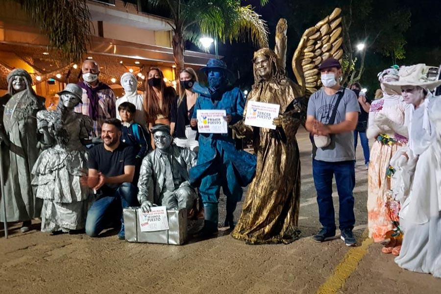 Se realizó el primer concurso de estatuas vivientes en Colón