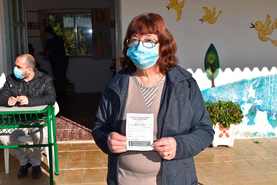 Vecinos de Colonia Nueva al Sur completaron la segunda dosis contra Covid-19