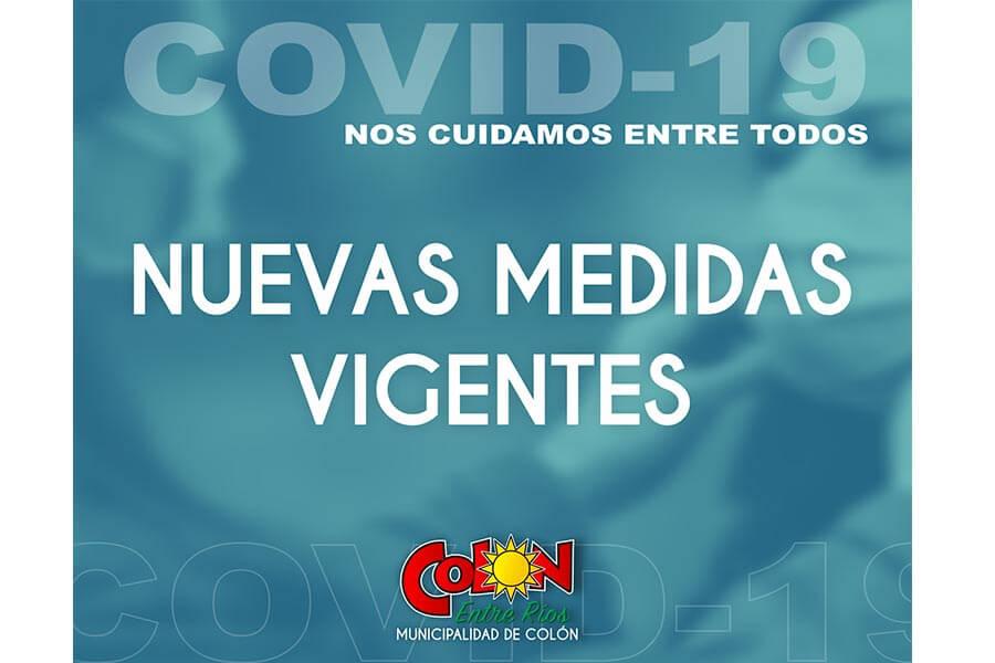 La Municipalidad de Colón informa las nuevas medidas vigentes