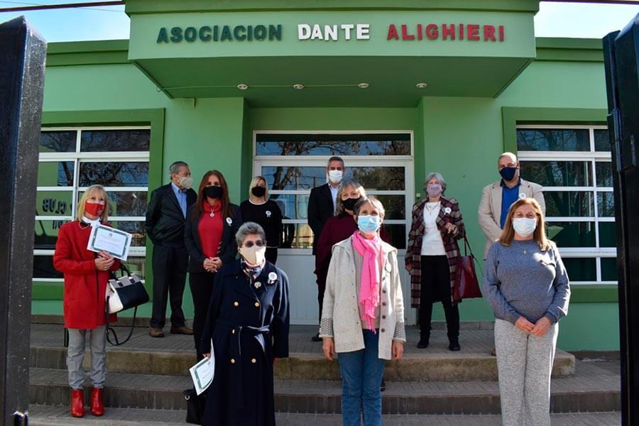 """En el Día de Italia homenajearon a fundadores de la Asociación """"Dante Alighieri"""""""