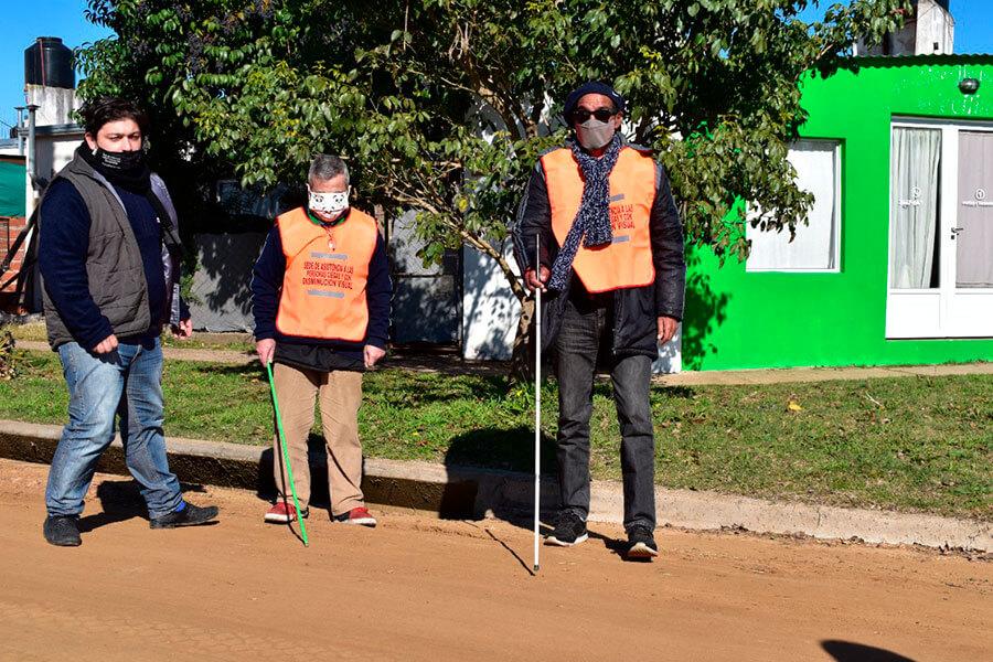 Funciona en Colón un espacio para acompañar a personas ciegas y con disminución visual