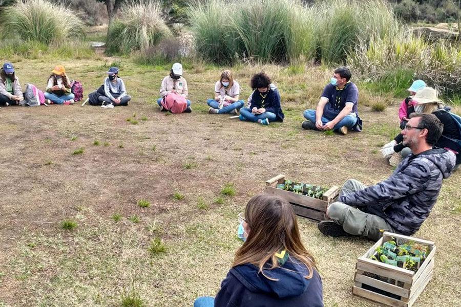 El sábado por la mañana junto con los Scouts Colón se juntaron más de 50 bolsas de residuos en la Reserva Norte de Colón.