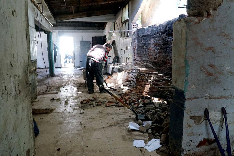"""Comenzó la recuperación del icónico edificio """"El Mangrullo"""" de Colón"""