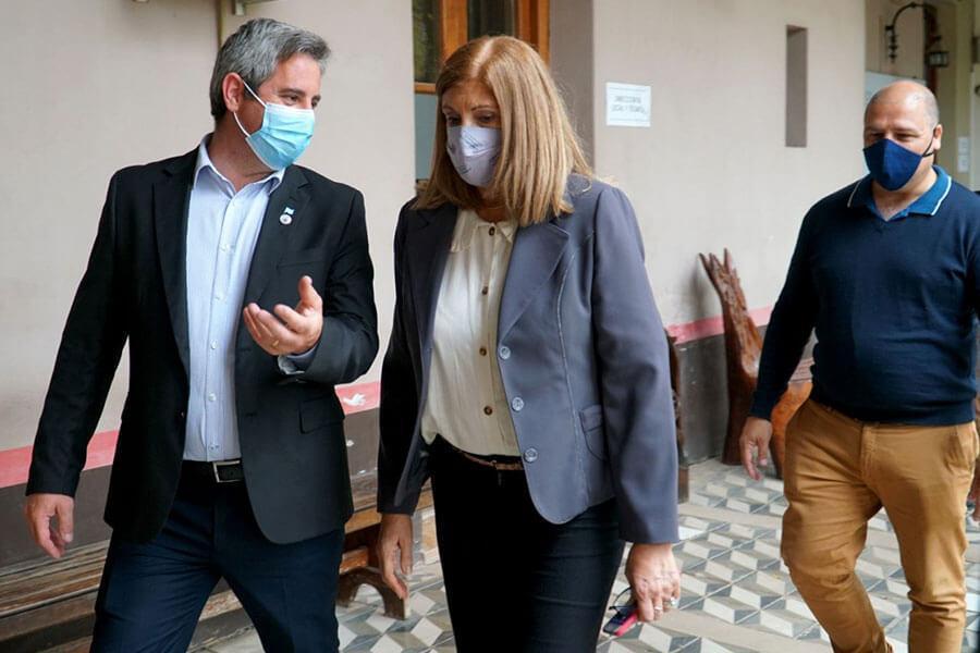 José Luis Walser recibió a la Ministra de Gobierno y Justicia Rosario Romero