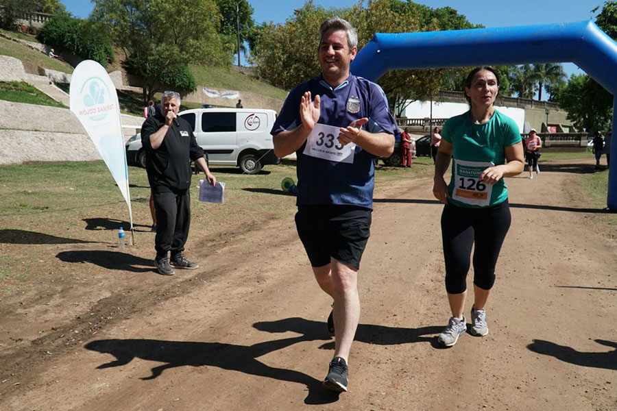 Más de 360 inscriptos participaron de la maratón barrial e institucional
